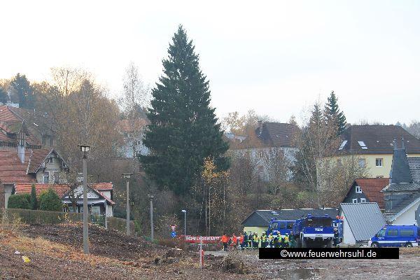 Suhl Weihnachtsmarkt.Weihnachtsbaum Mit Hindernissen Freiwillige Feuerwehr Suhl